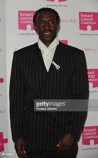 Linford Christie attends The Pink Ribbon Ball at Dorchester Hotel on October 10 2009 in London England