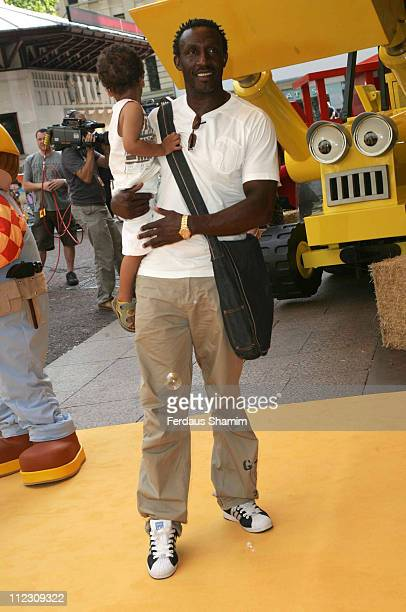 Linford Cristie during Bob the Builder Built to be Wild London Premiere at Odeon West End in London Great Britain