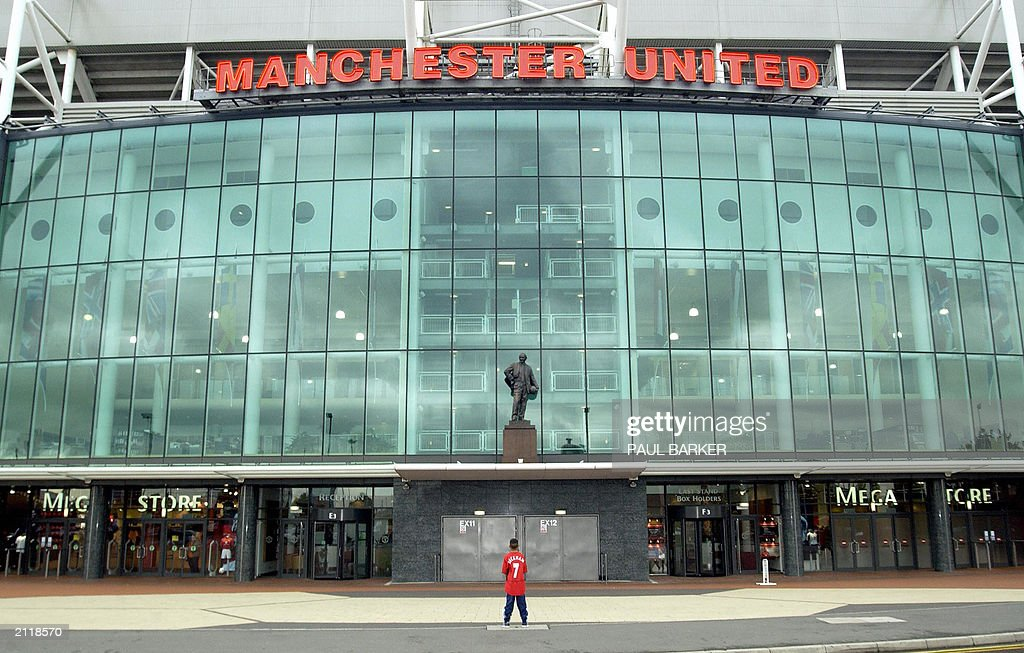 linford johfsos stands in front manchester united s stadium at old news photo getty images 2