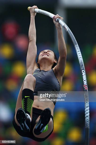Ling Li of China competes in the Womens Pole Vault during the AA Drink FBK Games held at the FBK Stadium on May 22 2016 in Hengelo Netherlands