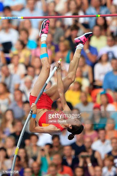 Ling Li of China competes in the Women's pole vault final during Day Four of the 14th IAAF World Athletics Championships Moscow 2013 at Luzhniki...