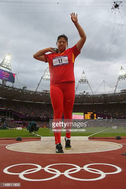 Ling Li of China competes in the Women's Shot Put final on Day 10 of the London 2012 Olympic Games at the Olympic Stadium on August 6 2012 in London...
