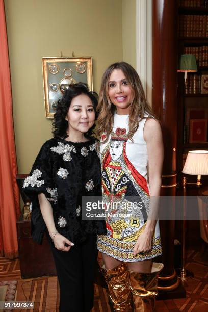 Ling Tian and Lieba Nesis during the Susan Gutfreund Hosts UN Women For Peace Association Reception on February 12 2018 in New York City