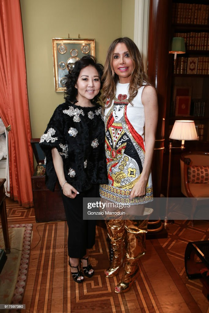 Ling Tian and Lieba Nesis during the Susan Gutfreund Hosts UN Women For Peace Association Reception on February 12, 2018 in New York City.