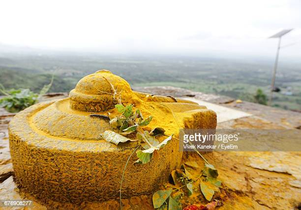 lingam against landscape - shiva stock pictures, royalty-free photos & images