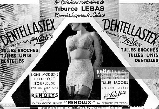 Lingerie Bra and girdle Tiburce Lebas France 1934