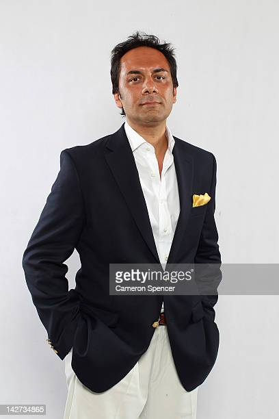 Lingerie Football League Founder and Chairman Mitchell Mortaza poses during a Lingerie Football League portrait session on April 12 2012 in Sydney...