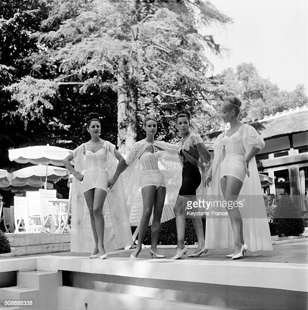 Lingerie Haute Couture Show in Paris France on September 30 1962