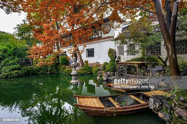 lingering garden, suzhou, jiangsu, china - suzhou stock pictures, royalty-free photos & images