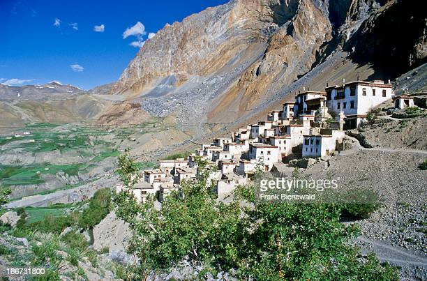 LINGSHED JAMMU KASHMIR INDIA Lingshed isolated village with one of the most important gompas in Zanskar
