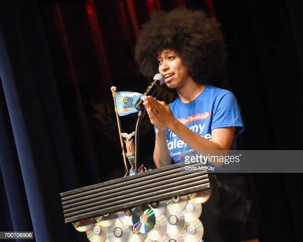 Lingua Franca accepts the award for Best Hip Hop on June 22 2017 in Athens Georgia