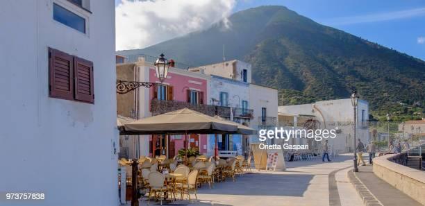 lingua promenade, salina (sicily, italy) - aeolian islands stock pictures, royalty-free photos & images