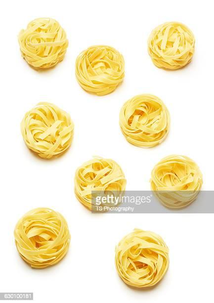 linguine pasta on a white background