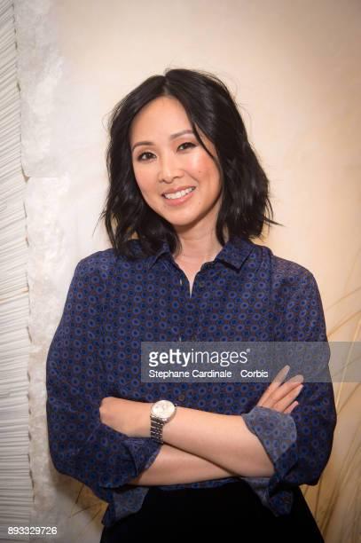 Linh Dan Pham attends the Chaumet Boutique Re Opening Rue Francois 1er at Rue Francois 1er on December 14 2017 in Paris France