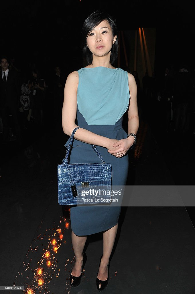 Linh Dan Pham attends the Elie Saab Ready-To-Wear Fall/Winter 2012 show as part of Paris Fashion Week on at Espace Ephemere Tuileries on March 7, 2012 in Paris, France.