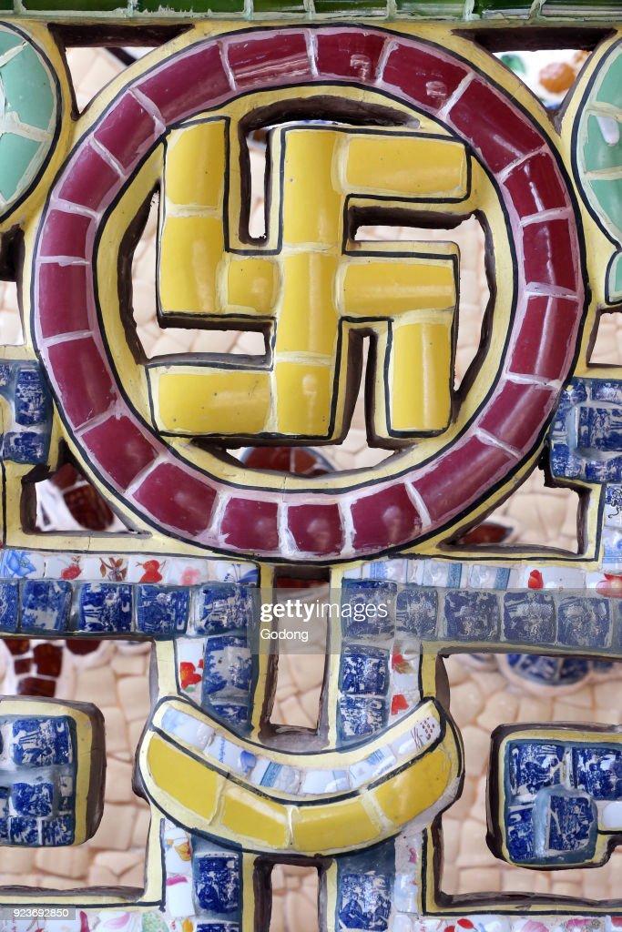 Linh Phuoc Buddhist Pagoda The Swastika Symbol Is Considered