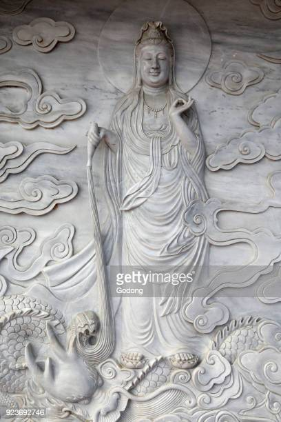 Linh Ung buddhist pagoda Quan Am bodhisattva of compassion or goddess of Mercy Danang Vietnam