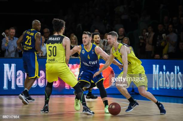 Linhart of medi bayreuth in action during the easyCredit BBL match between medi bayreuth and EWE Baskets Oldenburg at Oberfrankenhalle on May 5 2017...