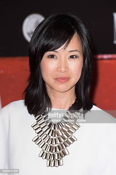 LinhDan Pham attends the 'Malavita' premiere at Europacorp Cinemas at Aeroville Shopping Center in RoissyenFrance France