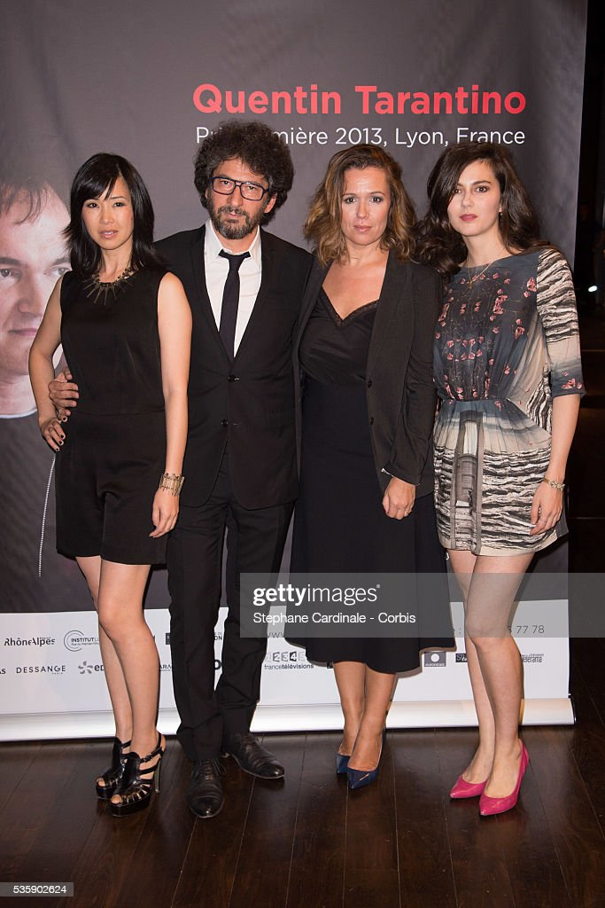 Linh-Dan Pham, Radu Mihaileanu, Delphine Gleize and Julia Faure attend the Tribute to Quentin Tarantino, during the 5th Lumiere Film Festival, in Lyon.
