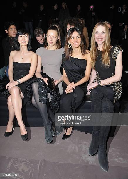 LinhDan Pham Rie Rasmussen Goya Toledo and Paulina Nemcova attend the Elie Saab Ready to Wear show as part of the Paris Womenswear Fashion Week...