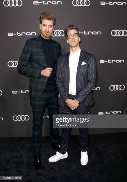 Link Neal and Rhett McLaughlin attend the Audi pre-Emmy celebration at Kimpton La Peer Hotel on September 14, 2018 in West Hollywood, California.