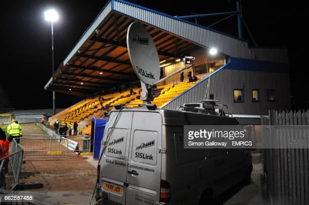 Link vans at Mansfield Town FC