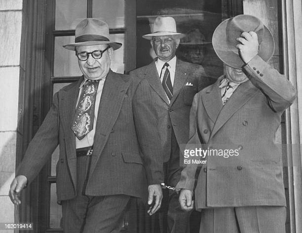 MAY 4 1953 Linked by handcuffs Charles Blanda and his chief henchman Tom Incerto start the first leg of their trip to the federal penitentiary in...