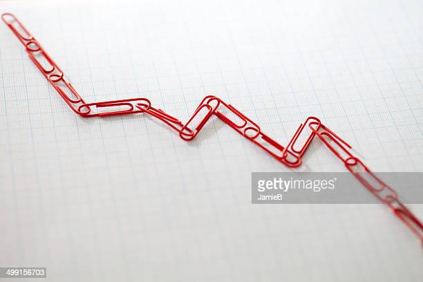 Linked paper clips on graph paper