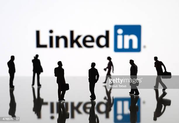 linkedin - sociale kwesties stockfoto's en -beelden
