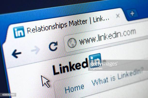 Linkedin webpage on the browser