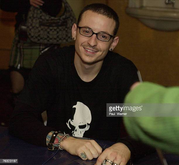 Linkin Park at the meet and greet after the show