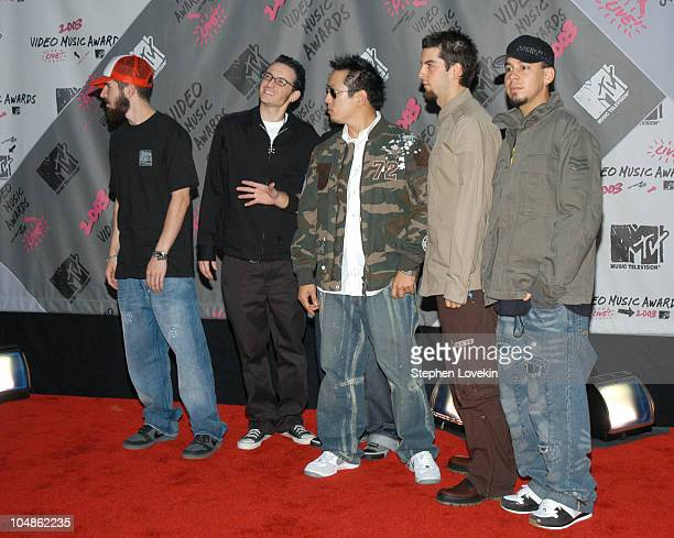 Linkin Park during 2003 MTV Video Music Awards Arrivals at Radio City Music Hall in New York City New York United States