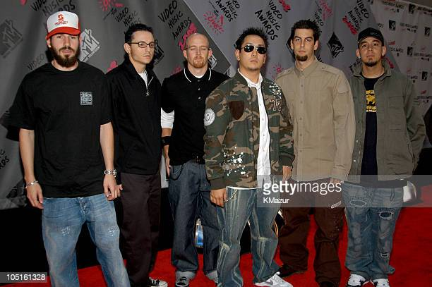 Linkin Park during 2003 MTV Video Music Awards Red Carpet at Radio City Music Hall in New York City New York United States