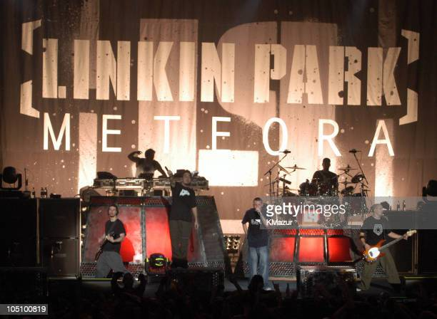 Linkin Park during Linkin Park performs on their Meteora World Tour 2003 New York at Roseland Ballroom in New York City New York United States