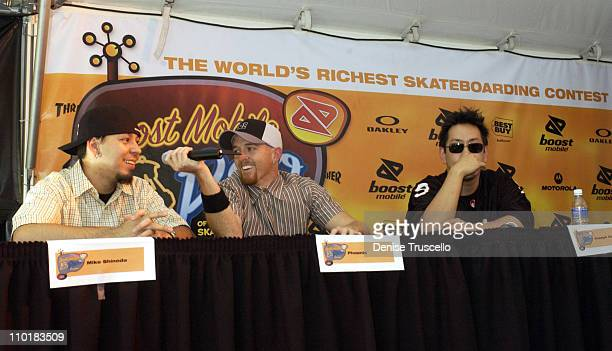 Linkin Park during Linkin Park Press Conference At Boost Mobile's Pro Skateboarding The World's Richest Skateboarding Contest Ever Presented By...