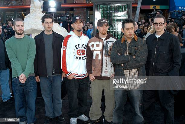 Linkin Park during 'The Matrix Reloaded' Premiere at Mann Village Theater in Westwood California United States