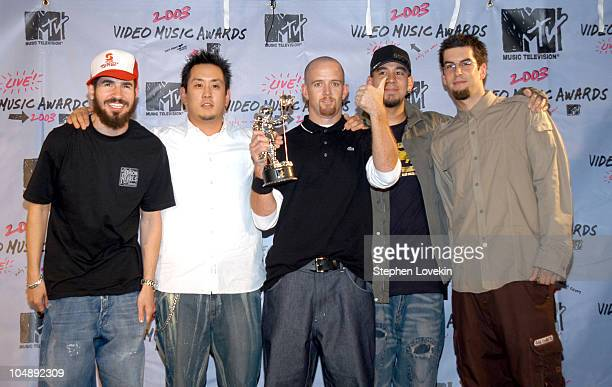 Linkin Park winners of Best Rock Video for 'Somewhere I Belong'