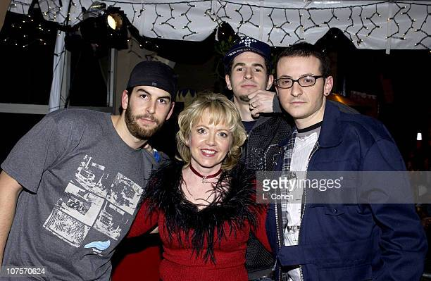 Linkin Park with KROQ's Tami Heide during KROQ 1067 FM Almost Acoustic Christmas Day 1 Backstage at Universal Amphitheatre in Universal California...