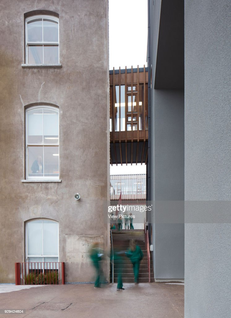 linking exterior stairway between existing and new building st angelas college cork cork