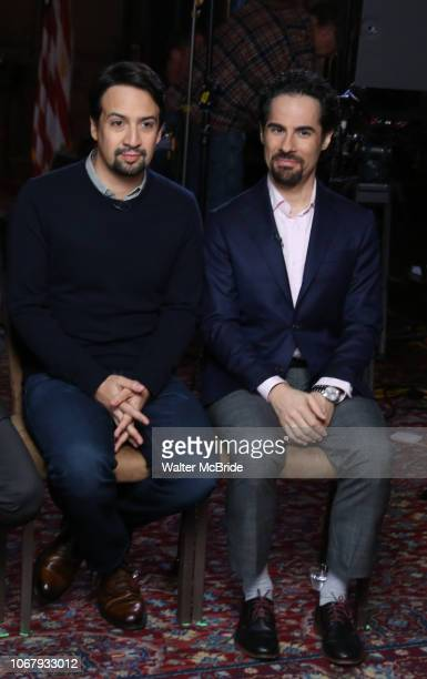 Lin-Manuel Miranda and Alex Lacamoire from the 'Hamilton' creative team during a CBS Morning News interview taping with John Dickerson at The Library...