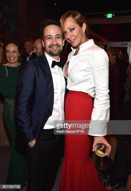 LinManuel Miranda and Allison Janney attend the 2018 Vanity Fair Oscar Party hosted by Radhika Jones at Wallis Annenberg Center for the Performing...