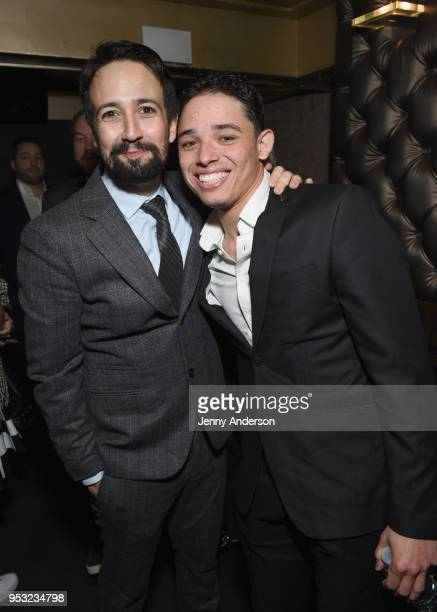 LinManuel Miranda and Anthony Ramos attend The Eugene O'Neill Theater Center's 18th Annual Monte Cristo Award Honoring LinManuel Miranda at Edison...