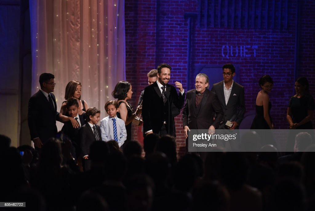 Lin-Manuel Miranda and his family attend 32nd Annual Imagen Awards - Inside at the Beverly Wilshire Four Seasons Hotel on August 18, 2017 in Beverly Hills, California.