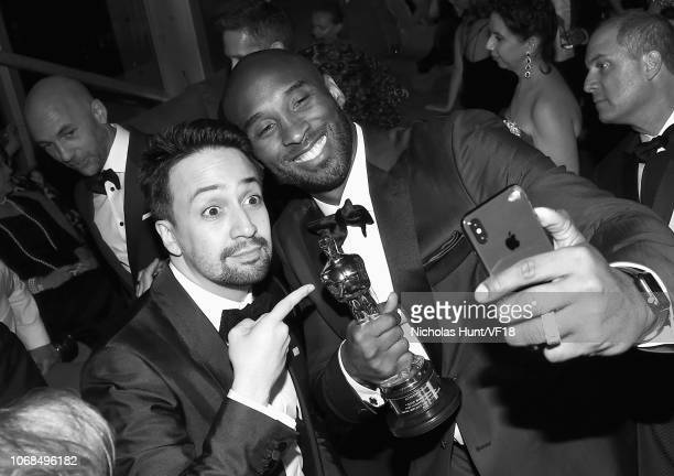 LinManuel Miranda and Kobe Bryant attend the 2018 Vanity Fair Oscar Party hosted by Radhika Jones at Wallis Annenberg Center for the Performing Arts...