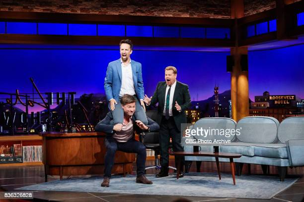 LinManuel Miranda and Nikolaj CosterWaldau chat with James Corden during 'The Late Late Show with James Corden' Tuesday August 15 2017 On The CBS...