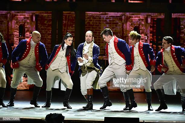 LinManuel Miranda and the cast of Hamilton at THE 70TH ANNUAL TONY AWARDS live from the Beacon Theatre in New York City Sunday June 12 on the CBS...