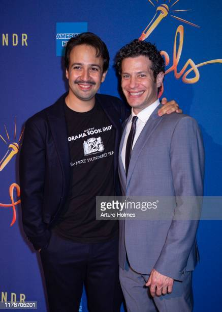 LinManuel Miranda and Thomas Kail attend the Freestyle Love Supreme after party at Second on October 02 2019 in New York City