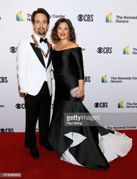 LinManuel Miranda and Vanessa Nadal attend the 2018 Kennedy Center Honors at The Kennedy Center on December 02 2018 in Washington DC