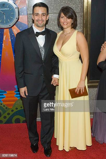 LinManuel Miranda and Vanessa Nadal attend the '63rd Annual Tony Awards' at Radio City Music Hall in New York City